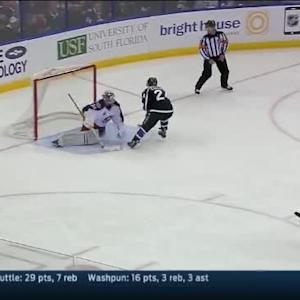 Curtis McElhinney Save on Ryan Callahan (10:52/2nd)
