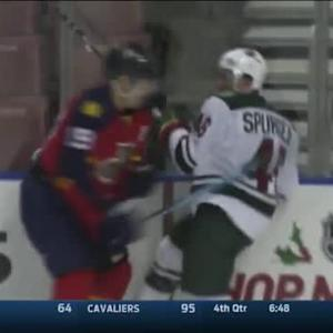 Scottie Upshall Hit on Jared Spurgeon (15:17/2nd)