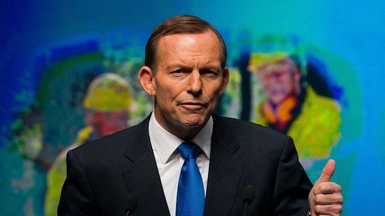 Australian Opposition Leader Tony Abbott speaks during an election campaign meeting in Brisbane on August 25, 2013