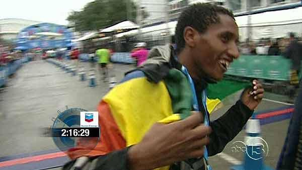 Bazu Worku wins men's Chevron Houston Marathon