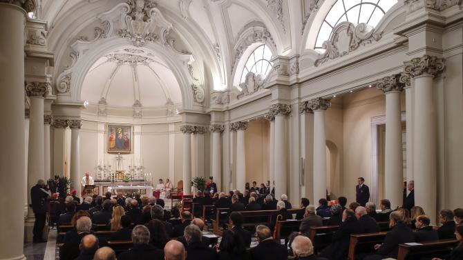 Cardinal Parolin leads a Holy Mass in the chapel of the Vatican Governorate to mark the opening of the Judicial Year of the Tribunal of Vatican City at the Vatican