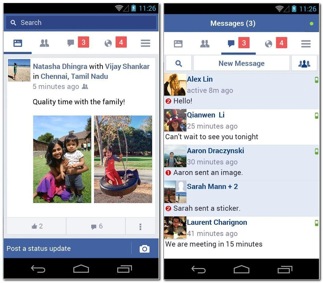 Facebook Lite is a tiny Facebook app that uses less data
