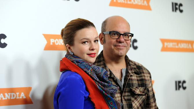 IMAGE DISTRIBUTED FOR IFC - Actors Amber Tamblyn and David Cross attend the season 3 premiere event of IFC's Portlandia at the American Museum of Natural History on Monday, Dec. 10, 2012, in New York. The new season premieres on IFC on Jan. 4 at 10pm ET/PT. (Diane Bondareff/Invision for IFC/AP Images)