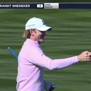 Brandt Snedeker's beautiful approach sets up birdie at Waste Management