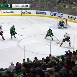 Jhonas Enroth Save on Emerson Etem (06:30/1st)