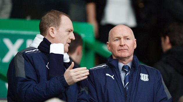 John Brown &#39;s Dundee claimed a draw in the manager&#39;s first game in charge