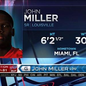 Buffalo Bills pick guard John Miller No. 81 in the 2015 NFL Draft