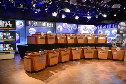 "NEW YORK, NY - MAY 21: A general overall view of the 2013 NBA Draft Lottery on May 21, 2013 at the ABC News' ""Good Morning America"" Times Square Studio in New York City. (Photo by Jennifer Pottheiser/"