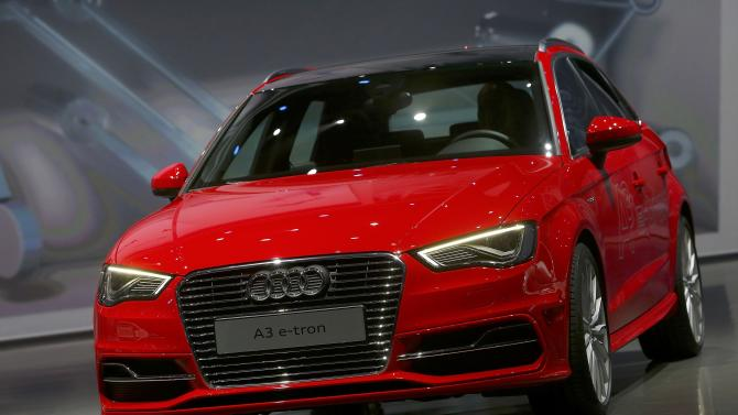 The new electric driven Audi A3 e-tron car is presented at the Volkswagen group night at the Frankfurt motor show