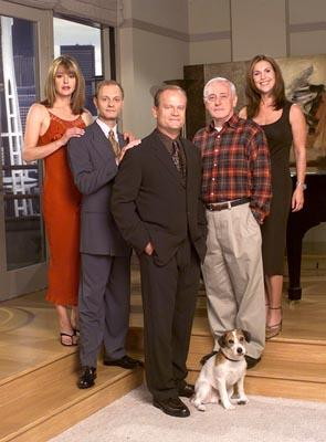 "Jane Leeves, David Hyde Pierce, Kelsey Grammer, John Mahoney and Peri Gilpin NBC's ""Frasier"" Frasier"