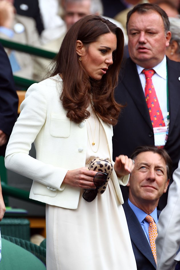 Kate Middleton hits Wimbledon final in cream tweed by Joseph
