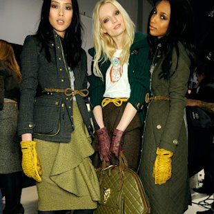 Burberry AW12 Backstage: Quilted Bag Trend