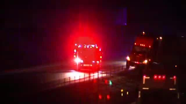 Raw: Semi accident closes I-76