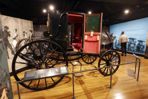 In this Jan. 7, 2015 photo, a carriage used by President …