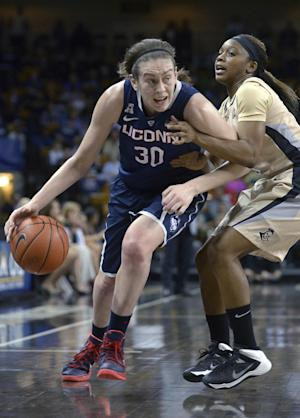 Dolson leads No. 1 UConn women past UCF 77-49