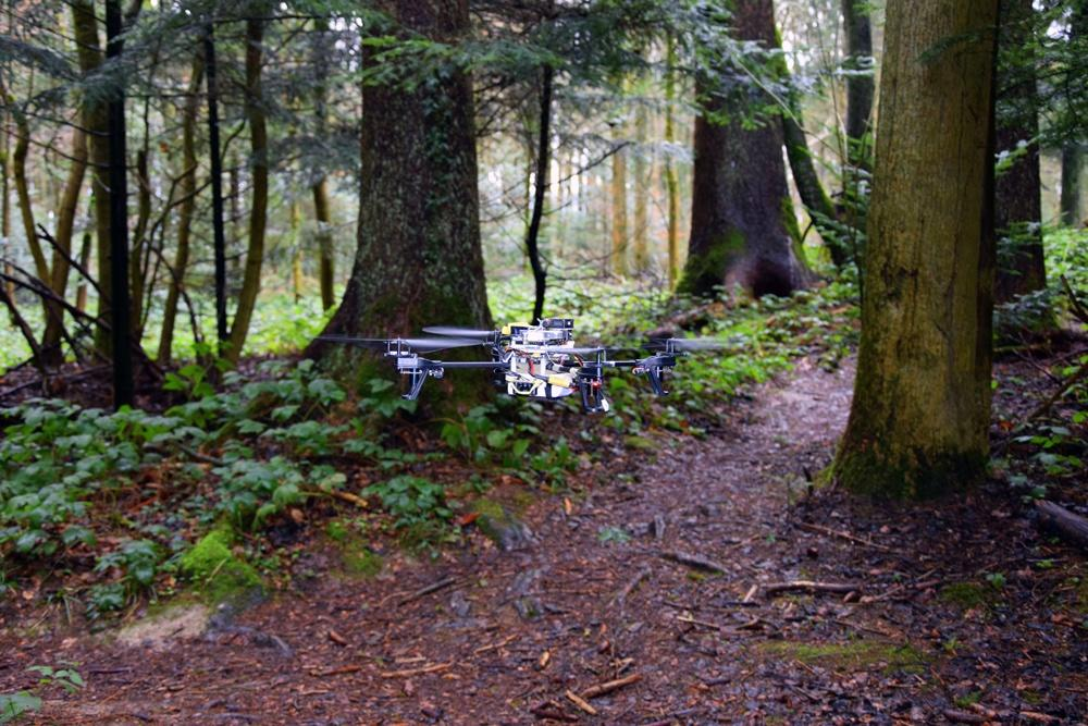 This drone can automatically follow forest trails to track down lost hikers