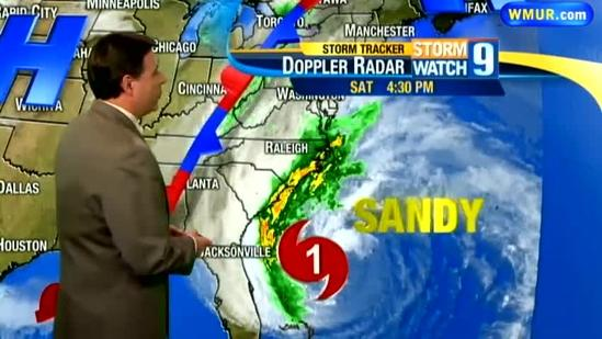 Saturday night Sandy Forecast with Bill