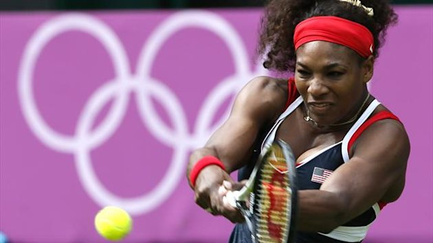 Serena Williams of the United States returns to Jelena Jankovic of Serbia (Reuters)