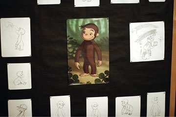 Artistic renderings of George in Universal Pictures' Curious George