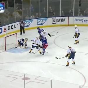 Pekka Rinne Save on Chris Kreider (01:37/1st)