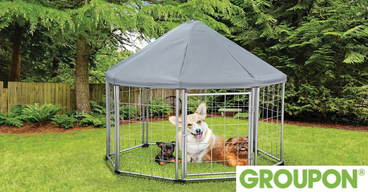 63% Off on Pet Gazebo with Removable Roof