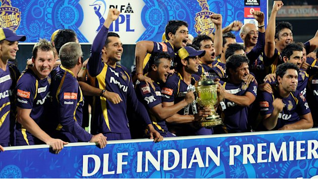 Kolkata Knight Riders celebrate after be