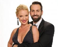 Katherine Heigl and Josh Kelley pose for a portrait at the 2011 American Music Awards held at Nokia Theatre L.A. LIVE in Los Angeles on November 20, 2011  -- Getty Premium