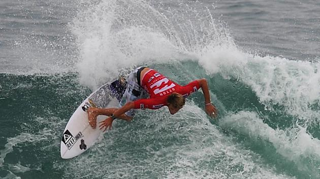 Australian surfer Kai Otton competes in the Association of Surfing Professionals' men's 2012 ASP World Championship Tour at Barra da Tijuca beach in Rio de Janeiro, Brazil, on May 14, 2012.  AFP PHOTO
