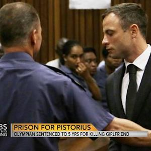 Pistorius sentenced to five years in prison for killing girlfriend