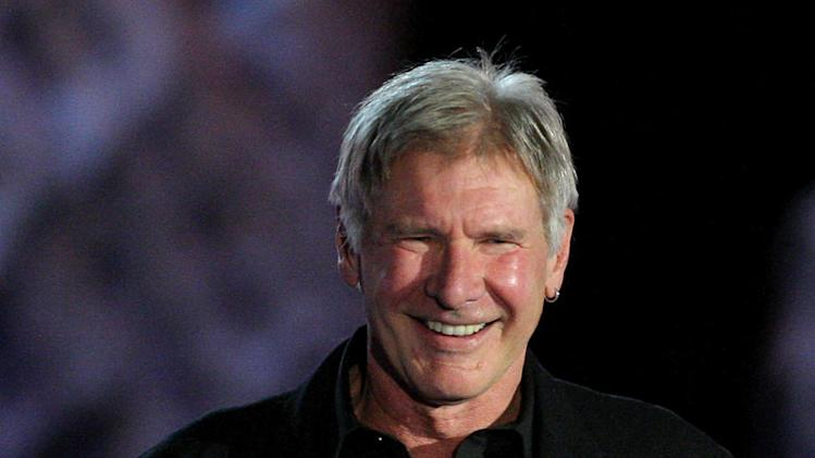 Harrison Ford presents the Best Director award onstage during Spike TV's Scream 2009 held at the Greek Theatre on October 17, 2009 in Los Angeles, California.