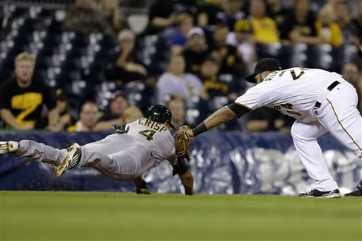 Pirates break loose, beat Athletics 5-0