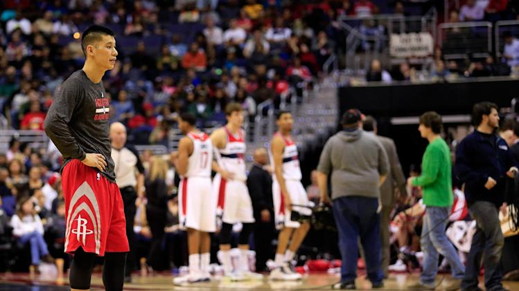 NBA rain delay as Rockets top Wizards 114-107