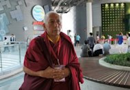 In this file photo, released by World Fellowship of Buddhists Korea Conference on June 11, Samdhong Rinpoche, a former prime minister of Tibet's government-in-exile, visits the Expo 2012 in the southern city of Yeosu ahead of the World Fellowship of Buddhists conference