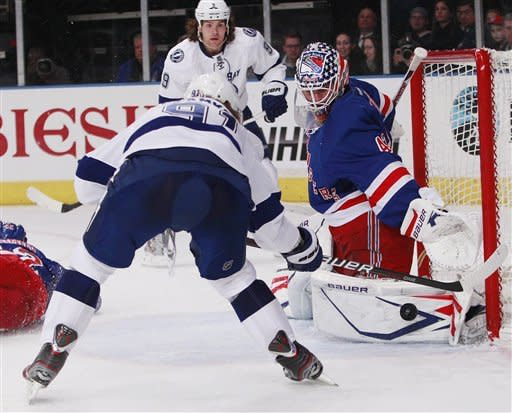 Richards scores in OT, Rangers beat Lightning 4-3