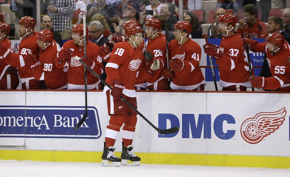 Red Wings beat Maple Leafs 5-2 in preseason