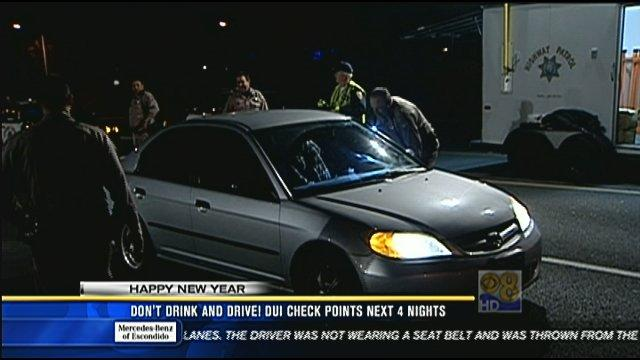 DUI checkpoints around San Diego over next four nights