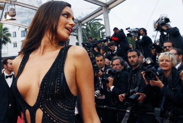 "Model Irina Shayk arrives for the screening of the film ""All is Lost"" during the 66th Cannes Film Festival"