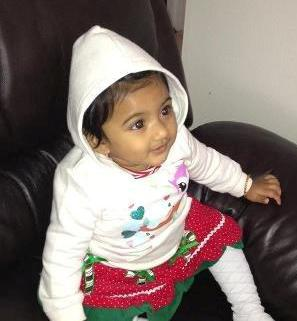This undated photo provided by the Pennsylvania State Police shows Saanvi Venna. Authorities are searching for the 10-month-old girl, who disappeared after her grandmother was fatally beaten inside a suburban Philadelphia apartment. Police issued an Amber Alert for the Venna on Monday Oct. 22, 2012 following the discovery of her grandmother's body at the Marquis Apartments in King of Prussia, Pa. (AP Photo/Pennsylvania State Police)