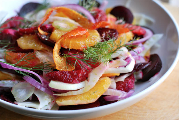 Blood Orange, Beet,and Fennel Salad