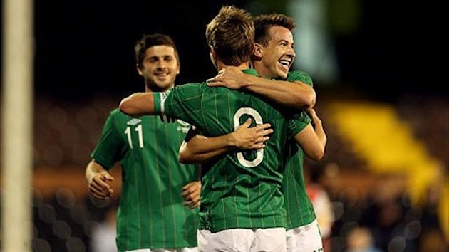 Republic of Ireland celebrate against Oman (PA Sport)