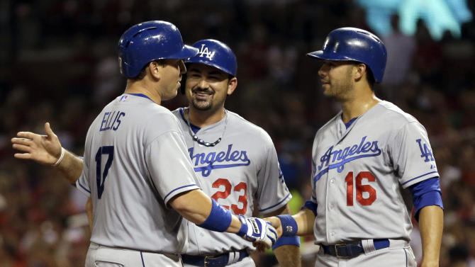 Ellis' 3-run homer lifts Dodgers over Cardinals