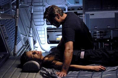 Natascha McElhone and George Clooney in 20th Century Fox's Solaris