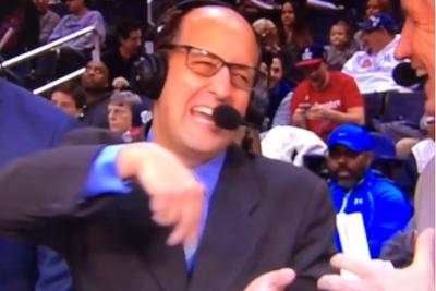 Jeff Van Gundy doing James Harden's pot-stirring celebration is just like the ocean under the moon