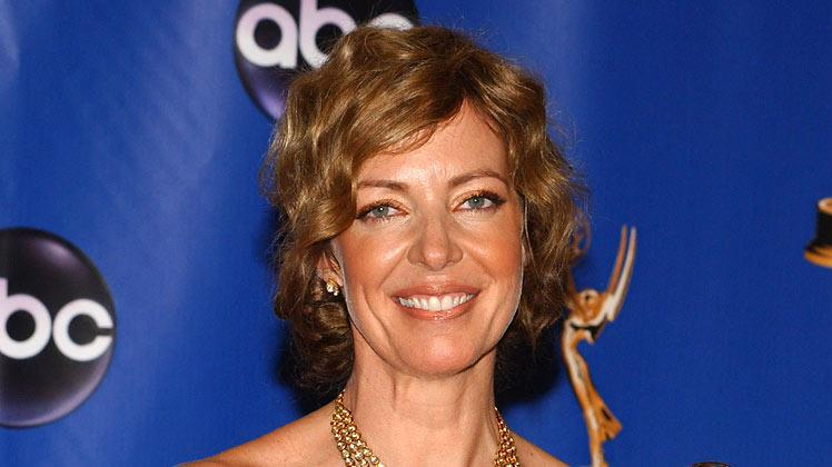 "Allison Janney, winner of Outstanding Lead Actress in a Drama Series for ""The West Wing"" at The 56th Annual Primetime Emmy Awards."