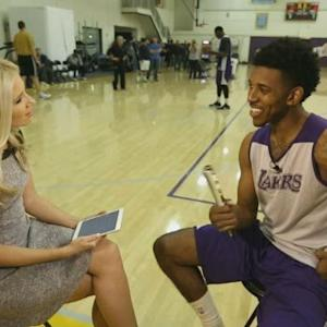 CBS2's Kristine Leahy Speaks With Lakers' Nick Young About His Game