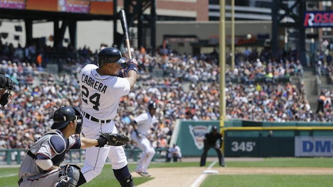 Cabrera homers, sends Scherzer, Tigers past Twins