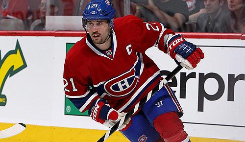 Montreal Canadiens captain Brian Gionta
