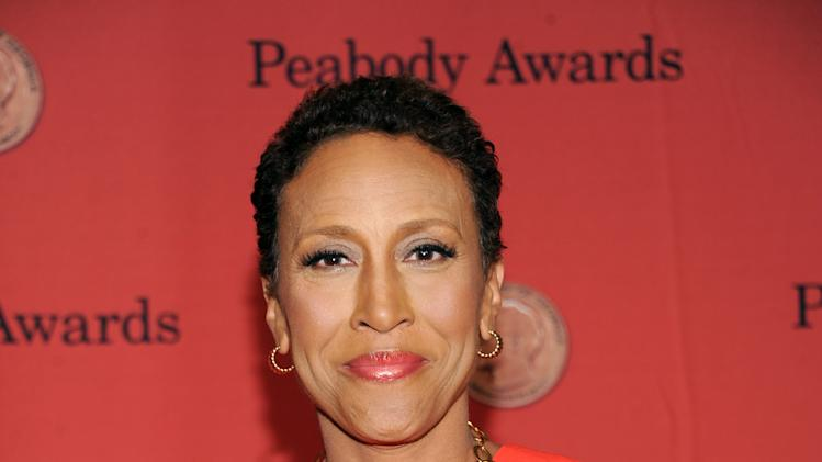 Television journalist Robin Roberts poses with her Peabody at the 72nd Annual Peabody Awards at the Waldorf-Astoria on Monday, May 20, 2013 in New York. (Photo by Evan Agostini/Invision/AP)