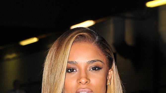 Singer Ciara arrives at Givenchy's Ready to Wear's Fall-Winter 2013-2014 fashion collection presented Sunday, March 3, 2013 in Paris. (AP Photo/Zacharie Scheurer)