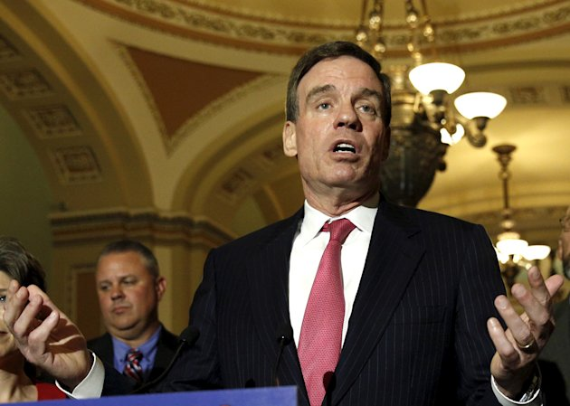 U.S. Senator Mark Warner (D-VA) speaks at a news conference in the U.S. Capitol in Washington, in this May 19, 2015 file photo. REUTERS/Kevin Lamarque...